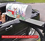"""New Invention. Great Gift""""Slide Me Out"""" Mailbox Extension Bracket. Slide Mailbox to You or Edge of Snow Bank. in Your Car? Slide Box to You, Reduces Stretching Out of The car Window."""