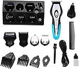 ZHWDD HairClippersMen 4 en 1 USB a Prueba de Agua eléctrico inalámbrico Carga de múltiples Funciones Navaja de Afeitar Set hefeide