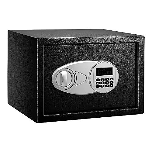 Amazon Basics - Caja fuerte (14L), color negro