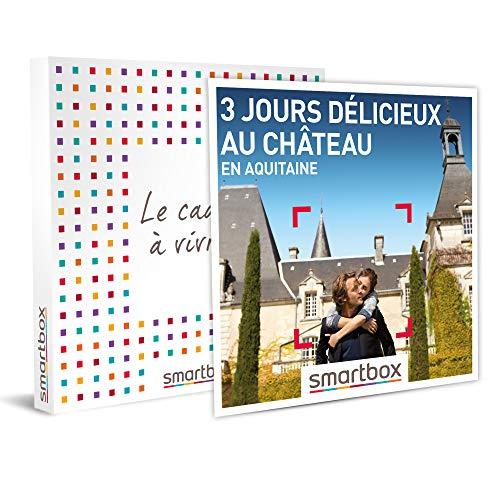 Smartbox - Coffret Cadeau Femme Homme - 3 Jours délicieux au château en Aquitaine - idée Cadeau - 2 Nuits avec Petits-déjeuners, 1 ou 2 dîners et Champagne ou Cocktail pour 2 Personnes
