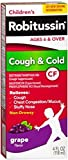 Robitussin CF Children's Cough & Cold Liquid, Grape Flavor 4 oz (Pack of 8)