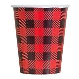 9oz Buffalo Plaid Lumberjack Party Cups, 8ct