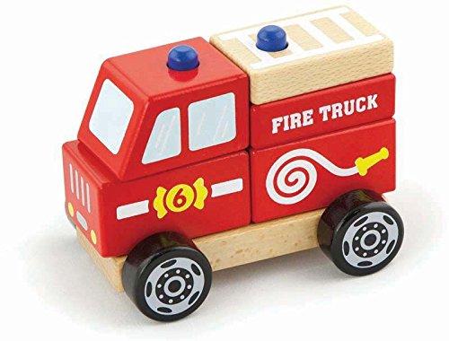 New Classic Toys - Maquette - Empilable - Voiture De Pompier - Multicolore (Ref: 1925)