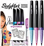 BIC BodyMark Temporary Tattoo Marker, New School, Assorted Colors, 3-Count