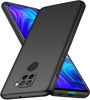Toppix 対応: Xiaomi Redmi Note 9 ケース, 保護カバー PCハードカバー 超薄型 [指紋と傷の防止] Xiaomi Redmi Note 9用 ハードカバー (ブラック)