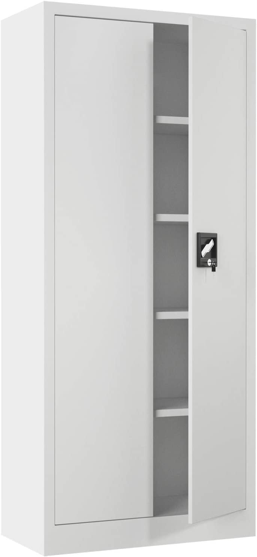 iJINGUR Metal Ranking TOP3 Storage Cabinet with Doors Locking Cheap bargain 4 Adju Height