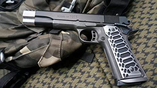 Valkyrie Dynamics 1911 Government/Commander Full Size Grips Aluminum DUO FINISH Apocalypse Cobra