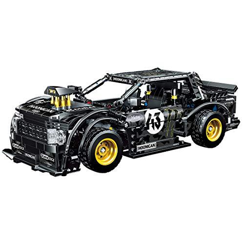 FADY Technik Sportwagen mit Rückziehmotor, Racing Auto Bauset Modell Kompatibel mit Lego Technic - 823 Teile
