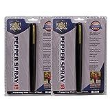 StreetWise 2 Pack Pepper Spray PEN'S 18 Black Pen 1/2 oz Lab...