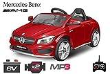 Lizenz Kinderauto Mercedes - Benz CLA 45 2 x 25W 6V MP3 RC Elektroauto Kinderfahrzeug Ferngesteuert Elektro Auto … (Weiss)