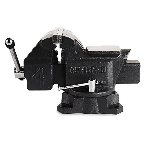 """Craftsman 4"""" Bench Vise with 180 Degree Swivel"""
