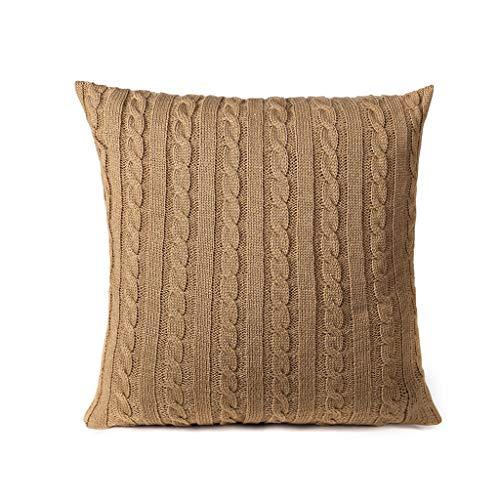 HINK Fundas de Almohada de acrílico de Moda Simple Funda de cojín de sofá de café 45x45cm, Funda de...