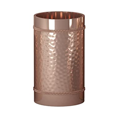 nu steel Copper Hudson Collection Bathroom, Decorative Holder, Cup for Water, Best Tumblers for Mouthwash-Rinsing Hammered Finish