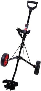 Ram Golf 2 Wheel Folding Steel Pull Cart w/Water Bottle, Scorecard Holder