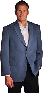 Big and Tall Luxury Microfiber Suede Touch Sport Coat to Size 60 in 5 Colors