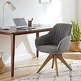 Art Leon Mid-Century Modern Swivel Accent Chair with Beech Wood Legs,...