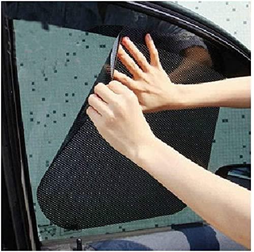 GPFFACAI Parasol Coche Lateral Parasol para Ventana Lateral del Coche 2PCS Protección para ventanilla Lateral del Coche Bloqueo Solar estático Cubierta para Parasol Protector Pantalla Visor Negro 42