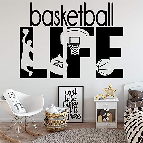 Calcomanía de vinilo Creative Basketball Life NBA Sports Kobe Jordan James # 23 Slam dunk Wall Wall Sticker Kids Room dormitorio GYM Home Decor art mural poster