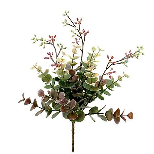 TGG Eukalyptus Busch grün/violett, L 20/26cm, Kunststoff, Outdoor !!!