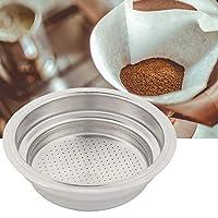 HelloCreate コーヒーティーフィルター 高品質 バスケット ステンレス鋼 コーヒーマシン フィルター コーヒーマシンアクセサリー