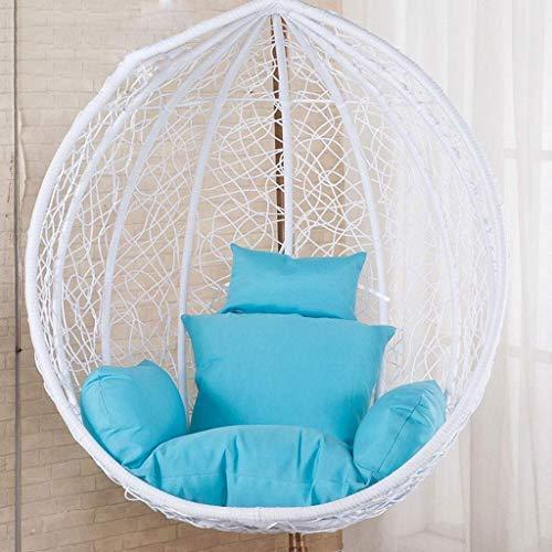 Yuany rotan rieten eieren hangstoel pads, opknoping stoel pads met comfortabele kussen, voor binnen Outdoor slaapkamer Patio Garden (kleur: rood)