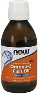 NOW Supplements, Omega-3 Fish Oil Liquid, Lemon, 7-Ounce