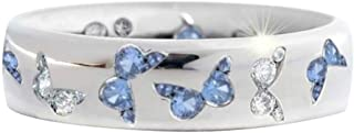 TOTAMALA Elegante anillo de mariposa de color de regalo con encanto diamante romántico joyería