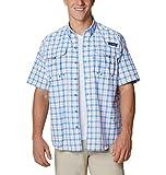 Columbia Super Bahama Camisa de Manga Corta para Hombre, Hombre, Super Bahama Camisa de Manga Corta, 143897, Harbor Blue Multi Plaid, XXX-Large