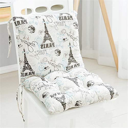 Deike Mild 2 Stück Stuhlkissen mit Rückenteil Sitz, Rückenkissen mit Bänder, Niedriglehner Auflage Polsterauflage Gartenstuhl (F,40x40cm)
