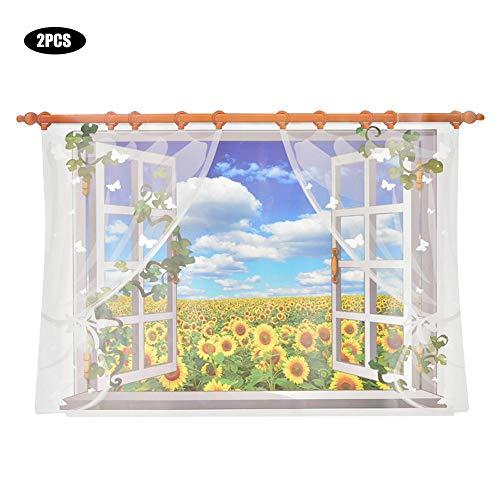 2 stks huishoudelijke zonnebloem landschap muursticker decals diy behang sticker decoratie, woondecoratie