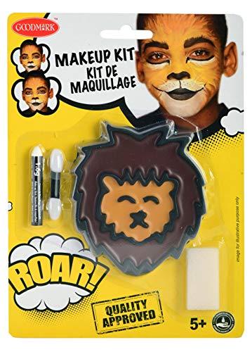 Goodmark 02070810 - Schminkset Löwe bestehend aus: Gesamt 7,5 g Farben (Braun und Gelb), 1,6 g...