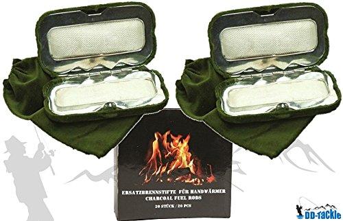 DD-Tackle Confezione Risparmio Con 2 Scaldamani + 20 Penne Di Combustione.
