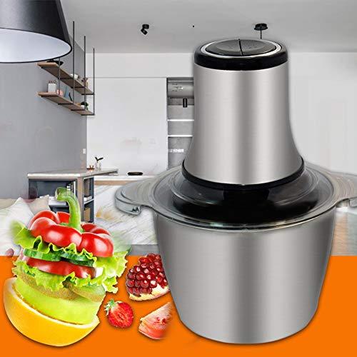 800W Küche Mini Chopper - Elektro-Küchenmaschine, Gemüse, Obst, Cutter Zwiebelschneider Dicer, 4 Bi-Level-Blades Grinder, 3L Robuste Edelstahlschüssel