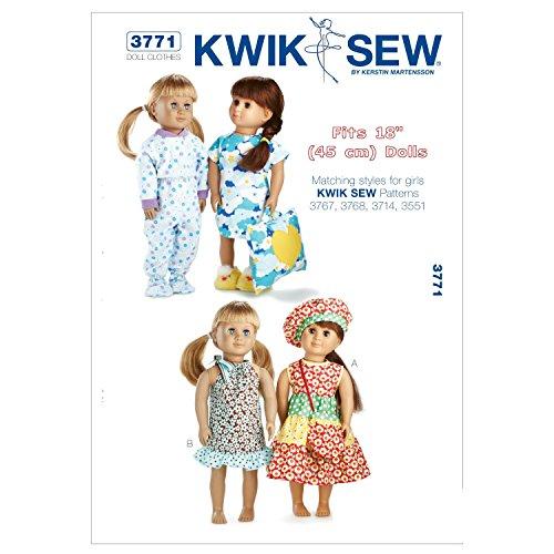 Kwik Sew K3771 Schnittmuster für Puppenkleidung, passend für 45,7 cm große Puppen.