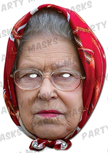 Mask-arade Official Mask - Queen Elizabeth II - with Headscarf