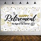 Happy Retirement Party Dekorationen, Extra Großer Stoff