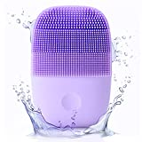 inFace Sonic Facial Device Pro, Sonic Facial Cleansing Brush,Waterproof Sonic Vibrating Face Spin Brush for Deep Cleansing,Facial Brush for Gentle Exfoliating and Removing Blackhead (Violet)