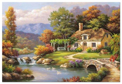 Educa 646254 - Puzzle 8000 Pzas Cottage Stream