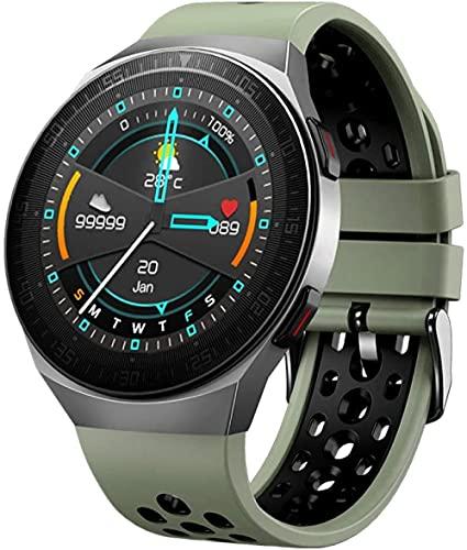 reloj inteligente reloj inteligente 8 GB gran memoria reproductor de música independiente llamada Bluetooth frecuencia cardíaca presión arterial tiempo dial-gris