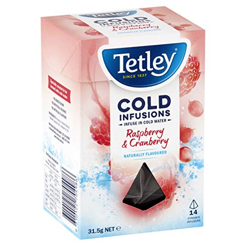 Tetley Cold Infusions Tea Bags, 14 Count, Raspberry & Cranberry