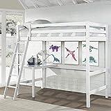 Hillsdale Caspian Twin Loft Bed, White