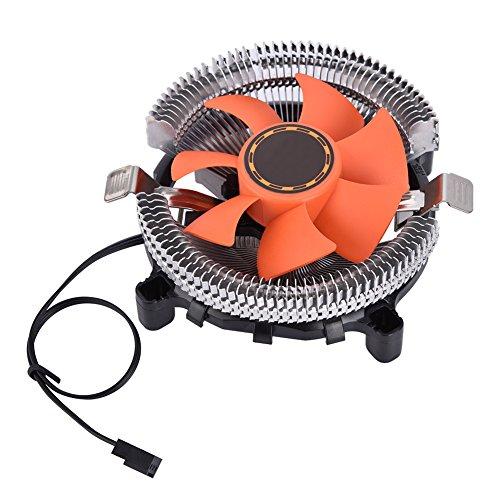 12V DC 3 Pines Mini Ventilador de Refrigeración por Flujo de Aire para CPU para In-Tel para A-MD, 80 * 80 * 25 mm 2200 + 10% RPM Enfriador Portátil Silencioso para Ordenadores de Escritorio
