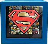Spoontiques Superman Shadowbox Bank, Blue