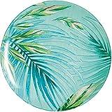 Luminarc Plato crazifolia 26 cm, 1 unidad, cristal, azul, multicolor, verde