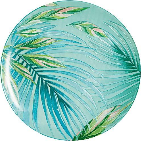 Luminarc Speiseteller Crazifolia 26 cm 1 Einheiten, Glas, blau, Mehrfarbig, grün
