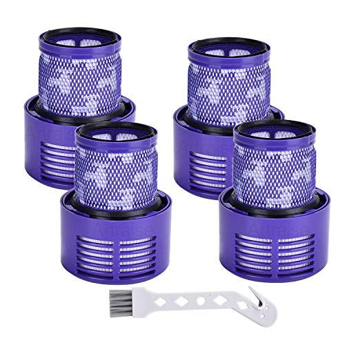 Artraise 4 paquetes de filtros de vacío para Dyson V10 Cyclone Series, V10 Absolute, V10 Animal, V10 Total Clean, SV12. Reemplaza # DY-969082-01.