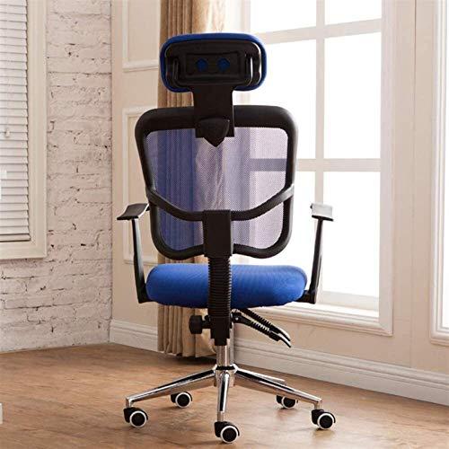 AOIWE Bürostuhl High Back Executive Mesh Chair mit Kopfstütze Support Seat Slid Heavy Duty Einstellbare Drehstuhl...