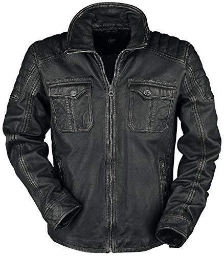 Gipsy Randall NSLROV Männer Lederjacke schwarz M, 100% Leder, Basics, Biker