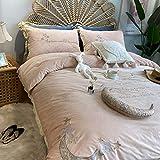 Shinon Juegos de sábanas de 90,Invierno Gruesa y cálida sábana de Franela de Doble Cara Funda nórdica Juego de Cama Extra Grande-UNA_Cama de 1,8 m (4 Piezas)
