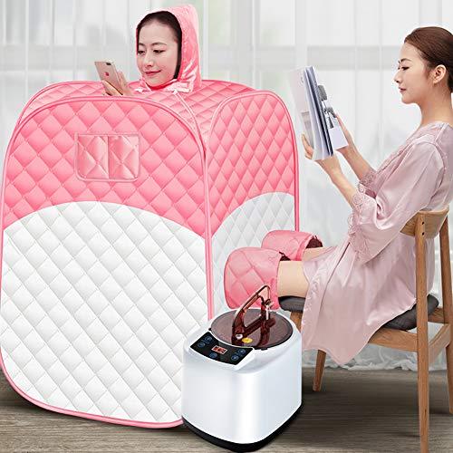 ZMIN Infrarotkabine Portable Infrarot-Sauna mit drahtloser Fernbedienung Heim-Dampfsauna (Heimsauna)